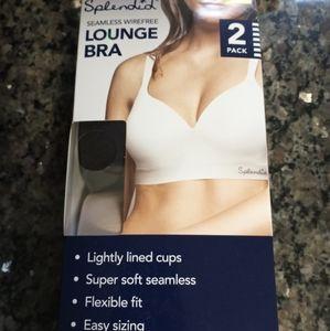 Splendid seamless wireless lounge bras